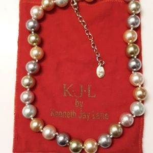 Kenneth Jay Lane Multicolored Faux Pearl Necklace